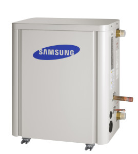 Samsung laag temperatuurs hydro unit warmtepomp produceert sanitair warm water