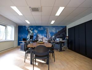 een warmtepomp en airco en ventilatie in kantoren