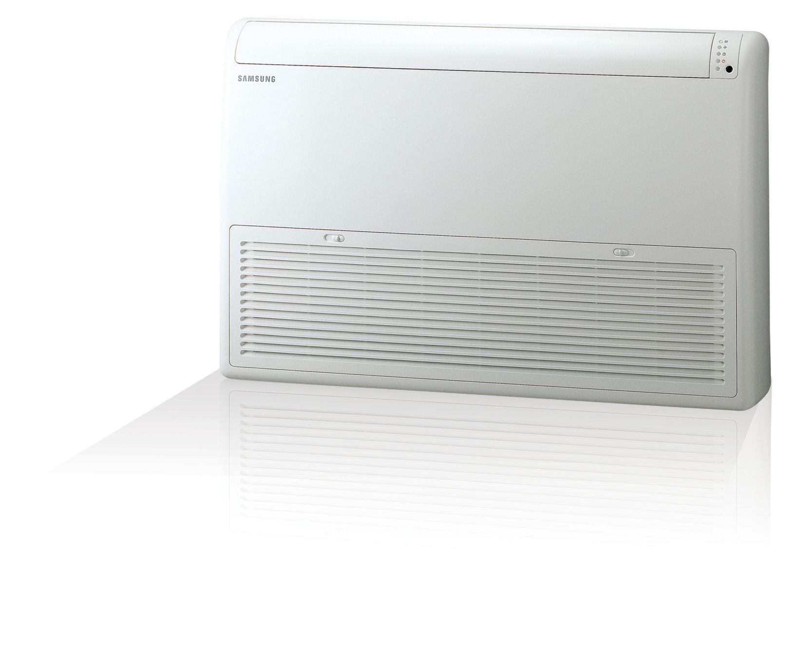 Verwarmen en koelen met een Samsung vloer plafond model warmtepomp airconditioning