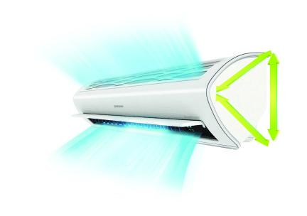 Optimale luchtverdeling met de Samsung warmtepomp airco