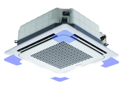 Compacte afmetingen Samsung warmtepomp airco