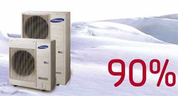 Hoge rendementen bij lage buitentemperaturen met een Samsung lucht water warmtepomp