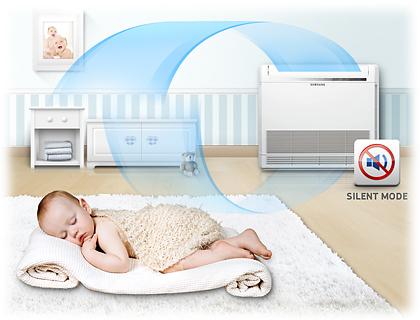 Stille werking van een Samsung airco warmtepomp
