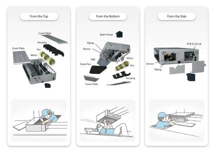 Eenvoudige installatie Samsung split kanaal warmtepomp airco