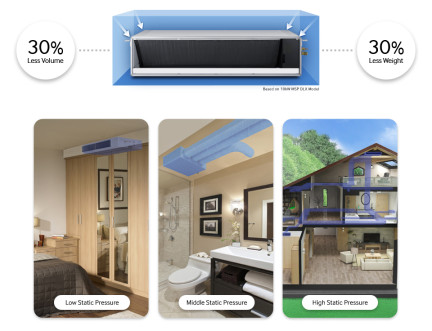 Samsung kanaalmodel warmtepomp airco in utiliteit