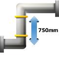 Condenswaterpomp Samsung 2-weg cassette warmtepomp airco