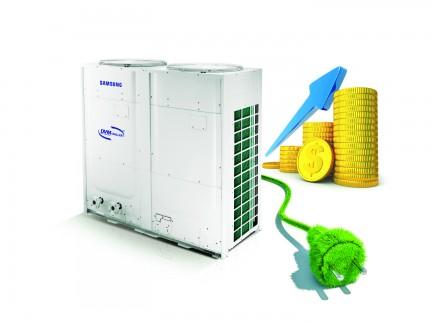 Energie efficiente werking Samsung chiller