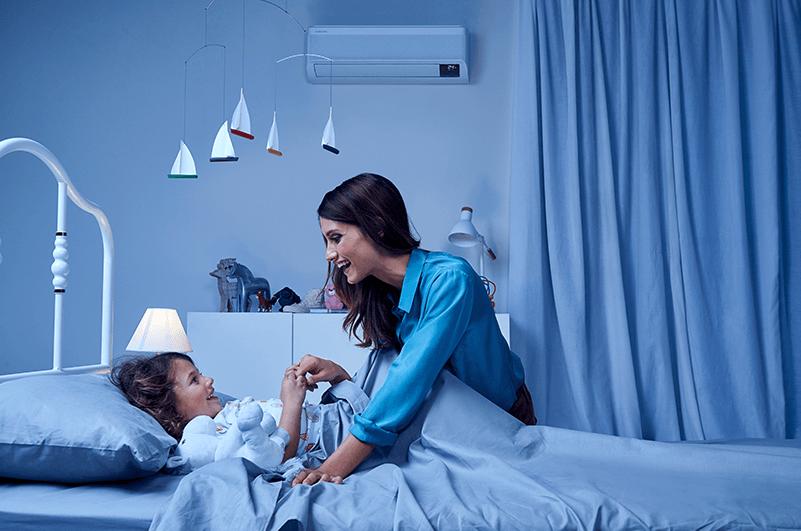 Samsung airconditioning in de slaapkamer
