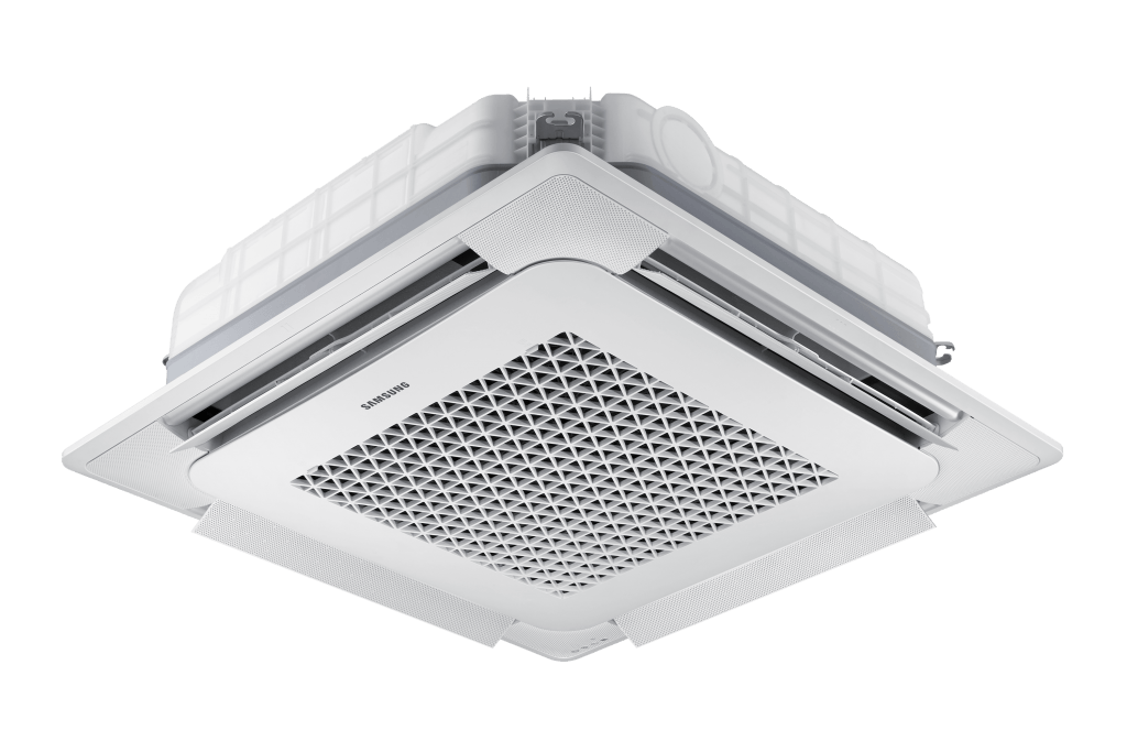 Samsung warmtepomp wind free 4 weg cassette open