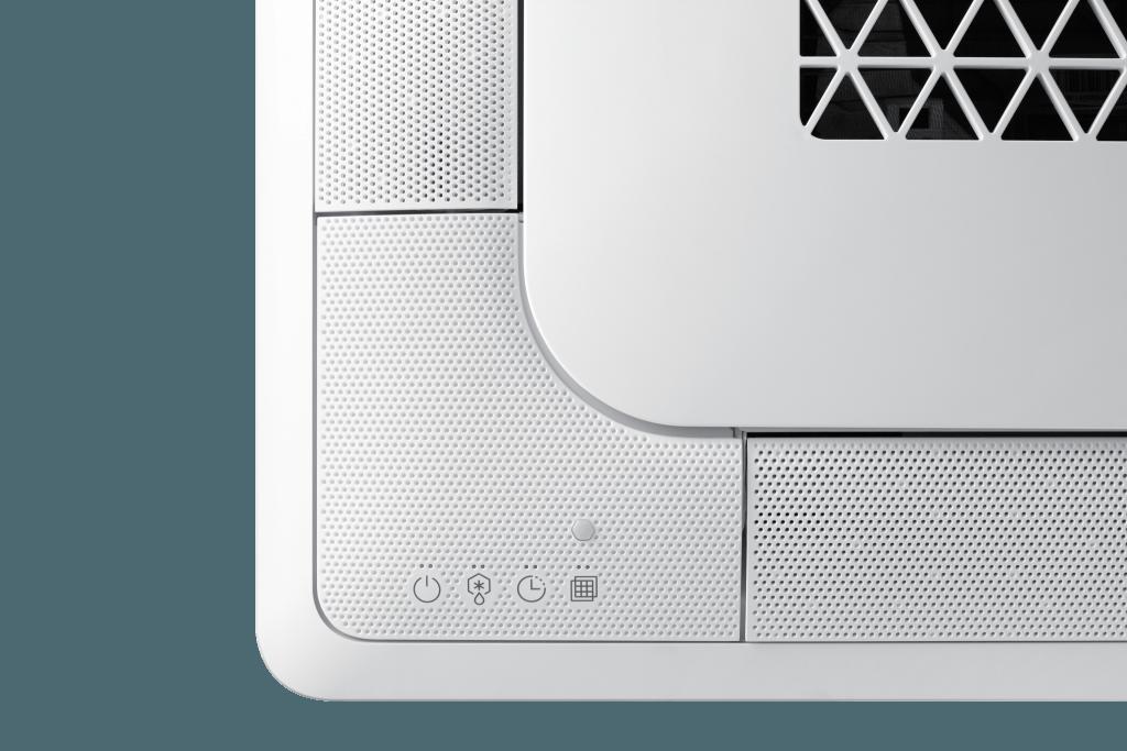 Samsung warmtepomp wind free 4 weg cassette sensor detail